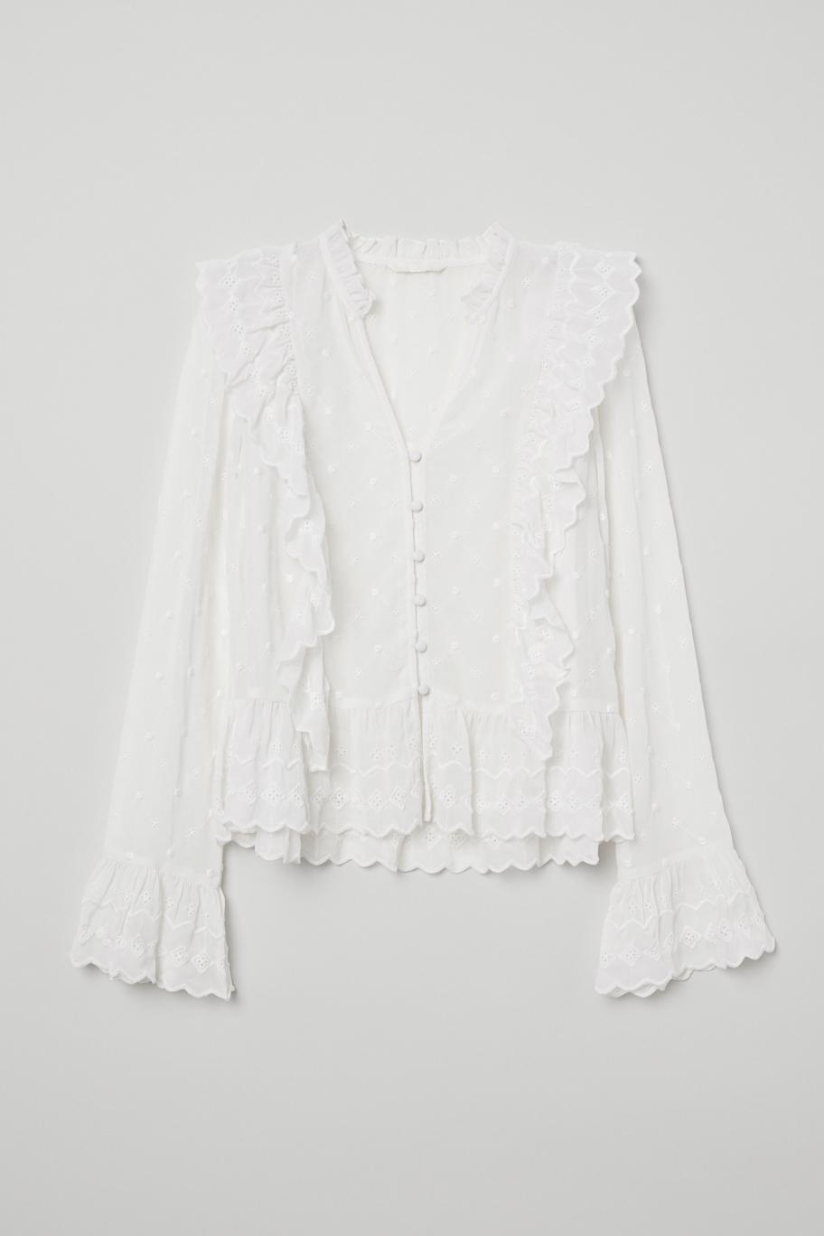 Блуза с копчета и деколте