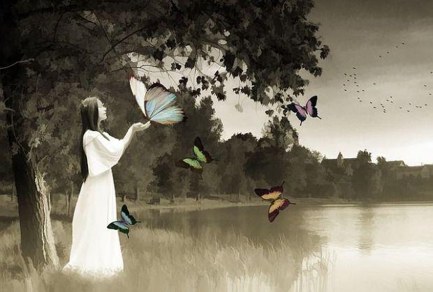 баланс, жена, спокойствие, хармония
