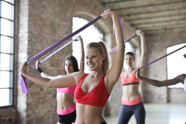 фитнес, спорт, жени, освобождаване, енергия
