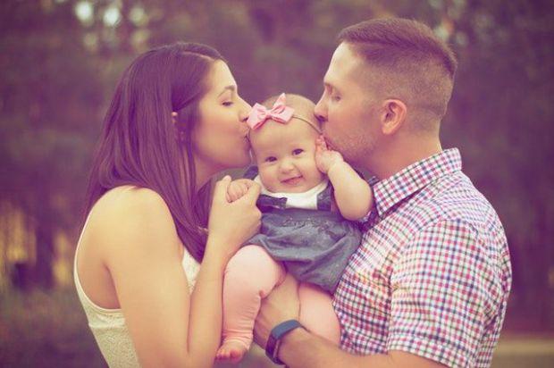 семейство, ценност, любов, мъж, жена, бебе