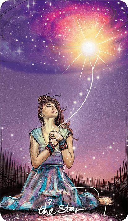 карта таро за деня, звездата, прогноза, надежда, благодарност, благословия