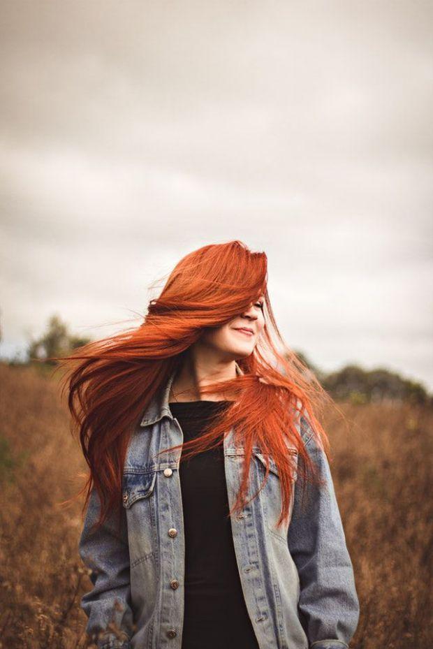 жена, стил, индивидуалност, червенокоса, свобода