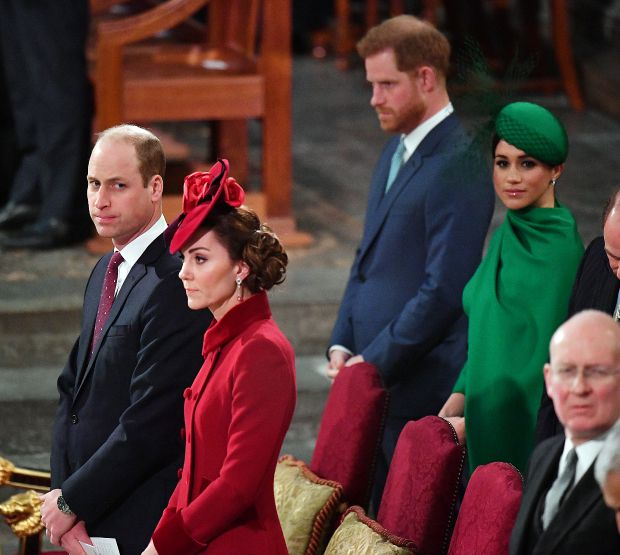 принц Уилям, Кейт Мидълтън, принц Хари, Меган Маркъл