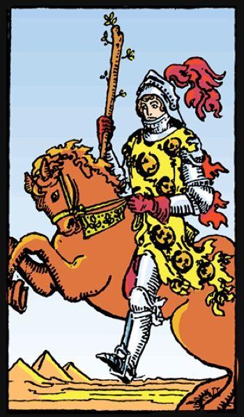 енергия, жизненост, карта таро за деня, рицар жезли, стремеж, кратко пътуване