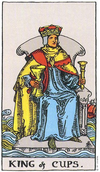 крал чаши, карта таро, прогноза, състрадание, алтруизъм, помощ, роднини