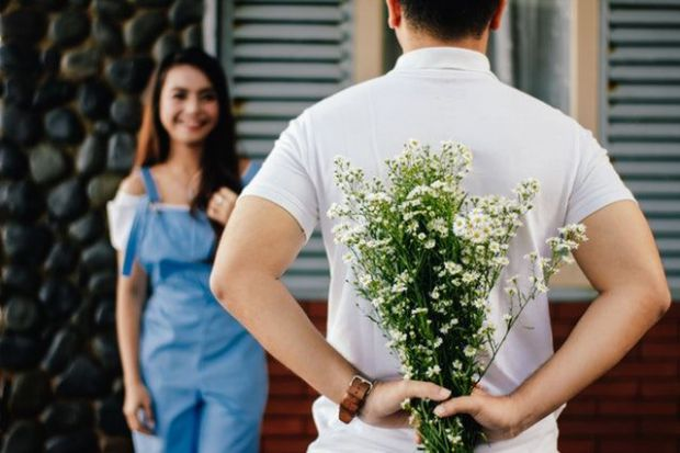 изненада, букет, любов, романтика, влюбени