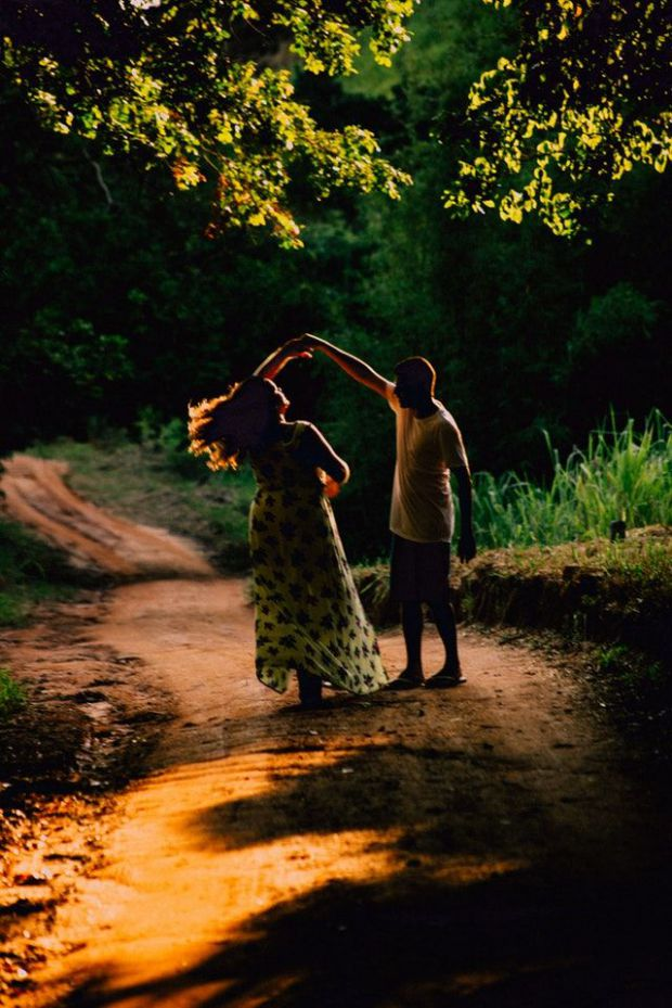 влюбени, гора, романтика, уединение