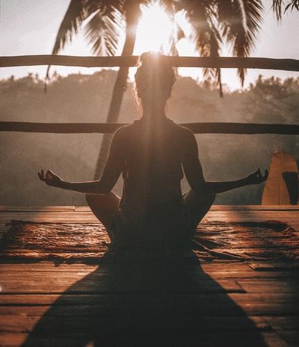 мъдрост, медитация, йога, изгрев, палма
