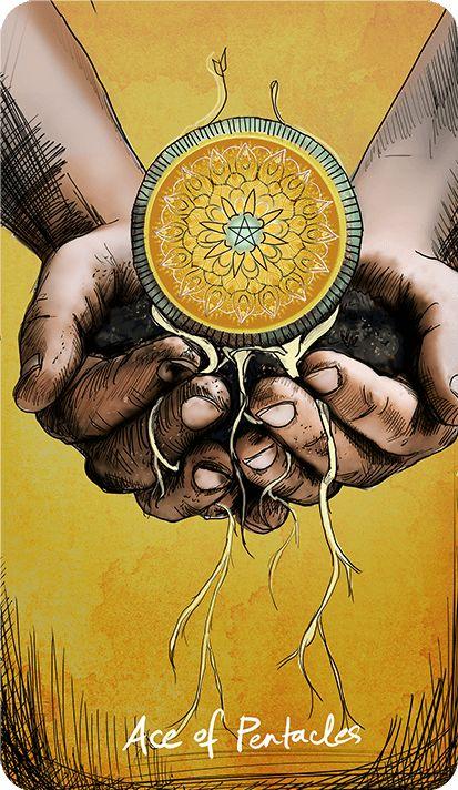 асо пентакли, зодия риби, таро, успех, късмет, лотаия, печалба