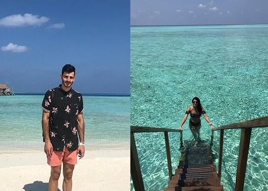 мъж, жена, малдиви