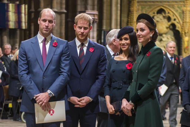 принц Уилям, принц Хари, Меган Маркъл, Кейт Мидълтън