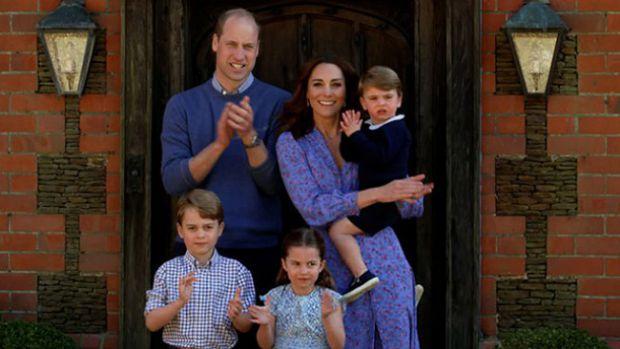 Кейт Мидълтън, принц Уилям, принц Джордж, принц Луи, принцеса Шарлот