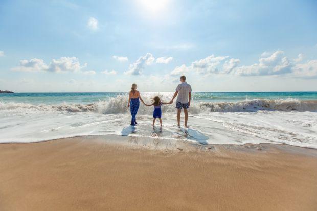 лято, море, заедно, трима, хармония, оценяване, дребни неща, щастие