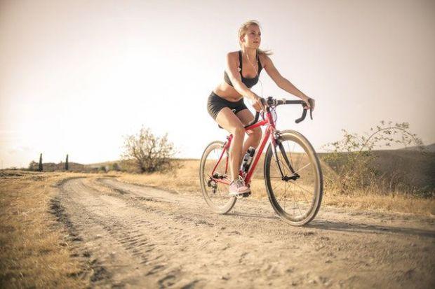 фитнес, спорт, енергия, пренасочване, канализиране, жена, колело