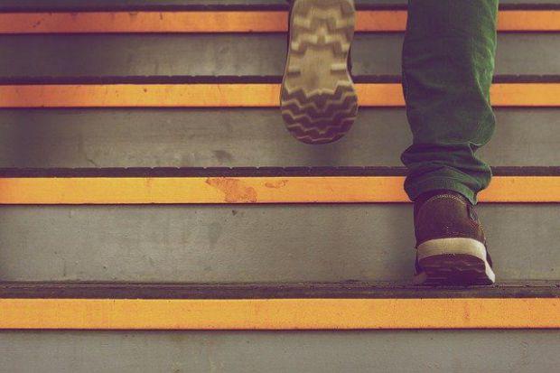 стълбица, изкачване, успех