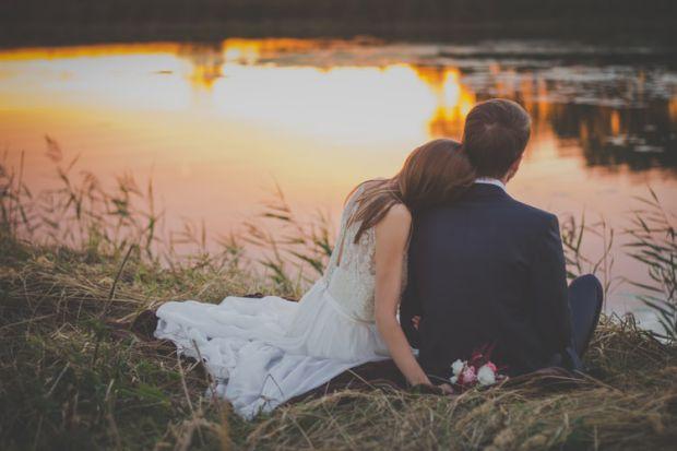любов, двама, романтика, бряг, море, заедно
