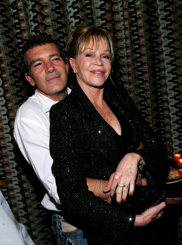 Антонио Бандерас с бившата си съпруга Мелани Грифит