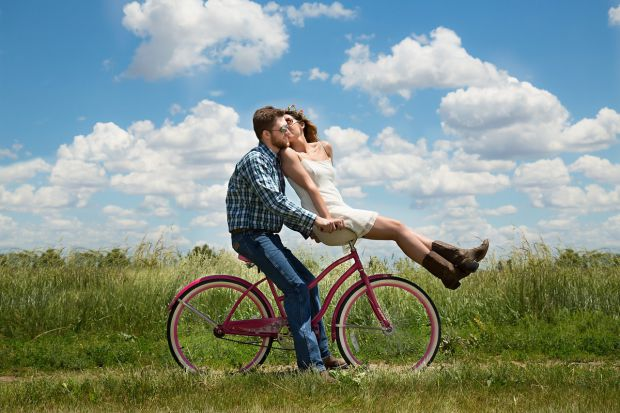 Влюбена двойка на колело
