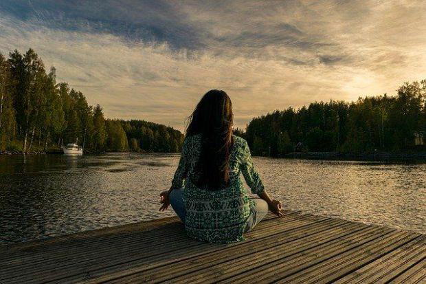 емоции, прикриване, сам, гора, небе