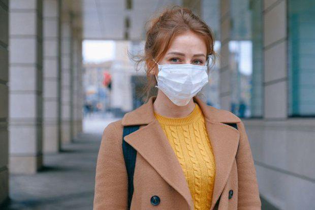 жена, маска, пуловер, здраве, грижа