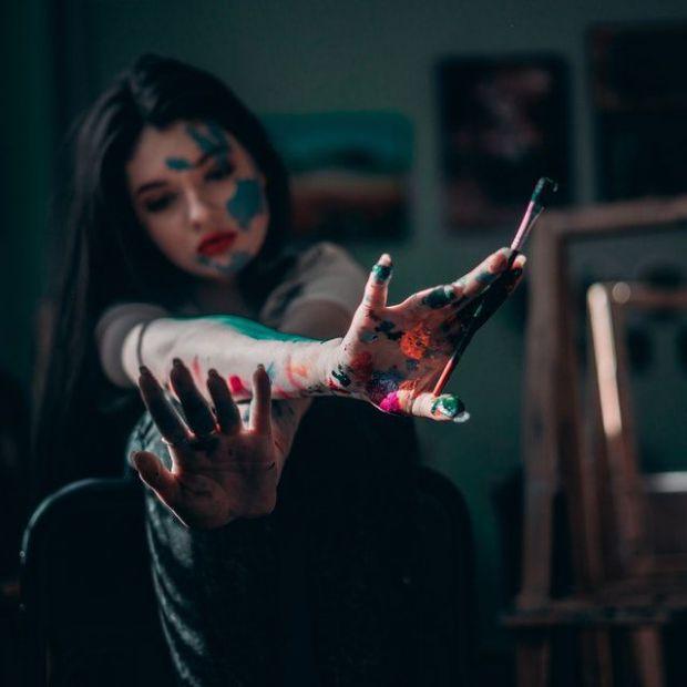 талант, творчество, изкуство, рисуване, жена, арт