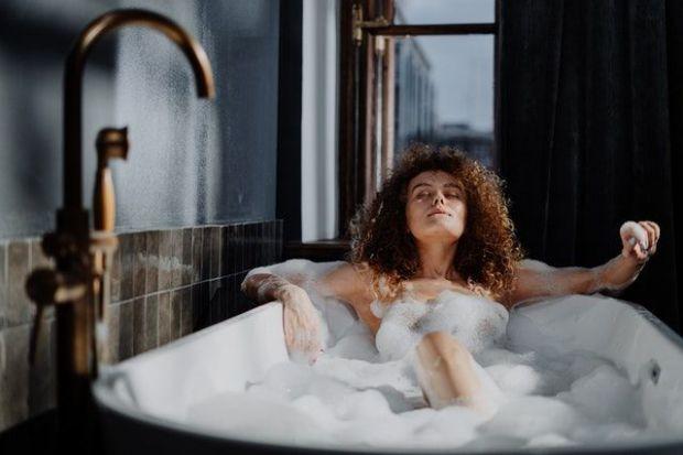 вана, релакс, море, почивка, презареждане, жена, баня