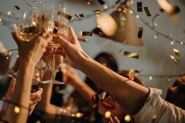 купон, разпускане, чаши, ръце, празненство