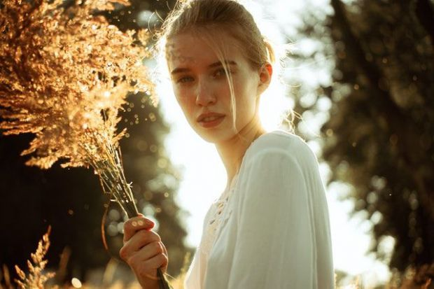 жена, красива, есен, месец, октомври, романтика, нежност, любов