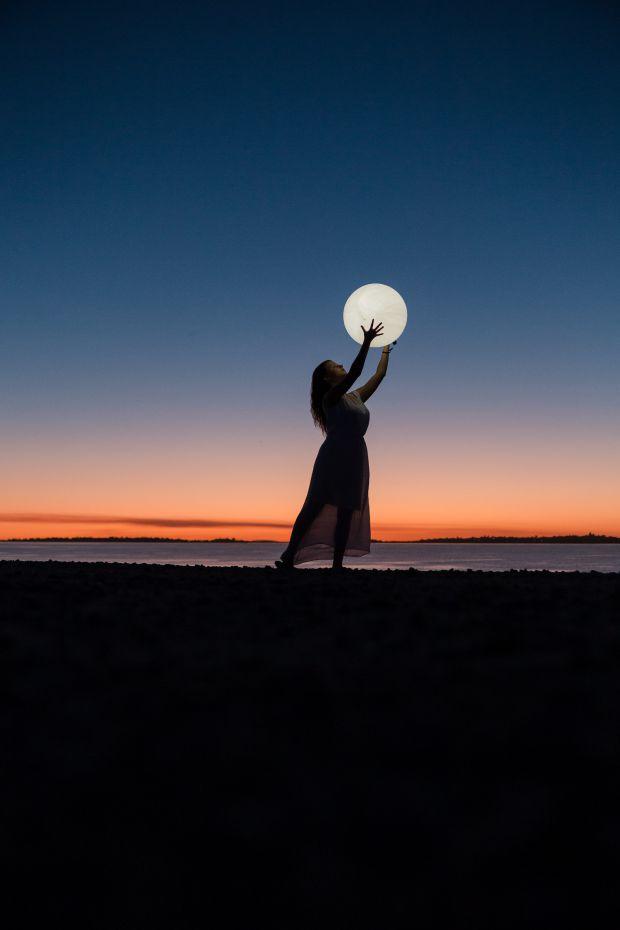 жена, луна