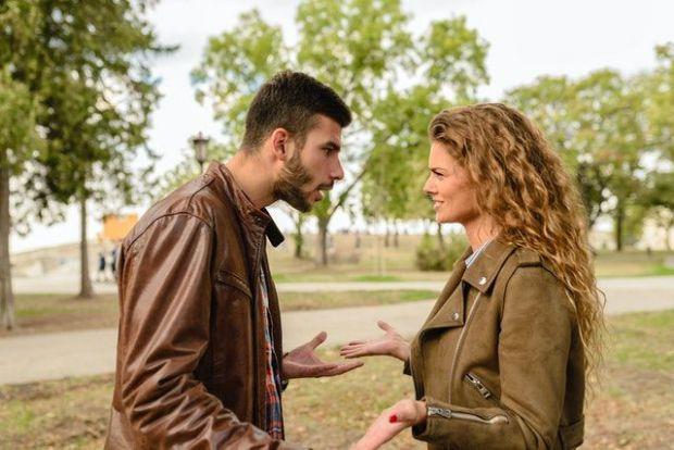 разговор, скандал, противоречие, мъж, жена, гора, спор