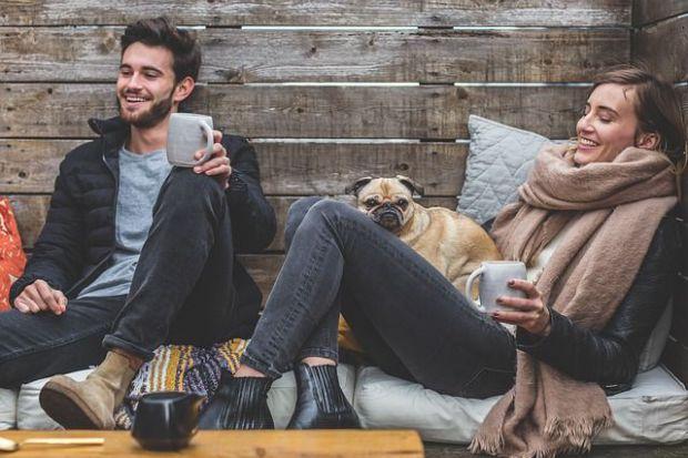 щастлива двойка, уют