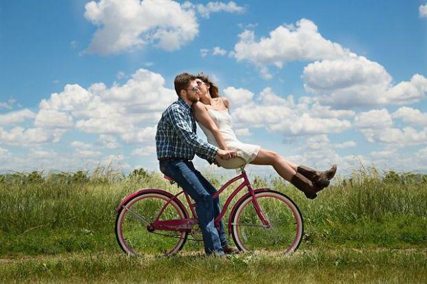 забавление, колело, двойка