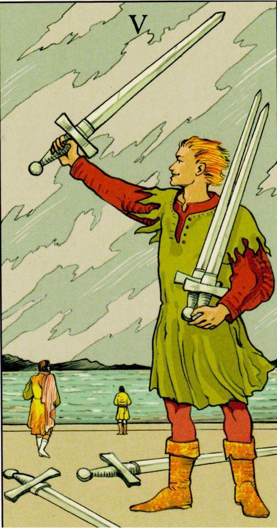 петица мечове, конфликти, наранени чувства