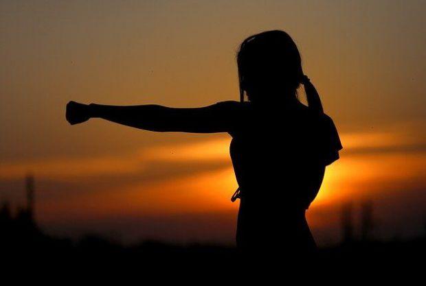 борбеност, сила, целеустременост, жена, бокс