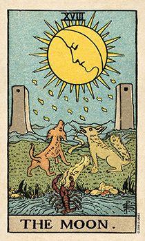 карта таро за деня, луната, заблуждение, медитация, пророчески сънища