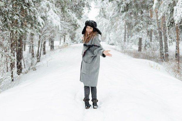 страст, удоволствие, реализация, утвърждение, сняг, гора, жена
