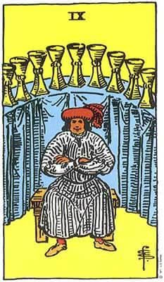 карта таро за деня, деветка чаши, сбъдване на желания, вътрешна хармония