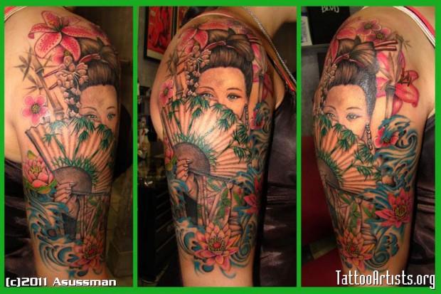 Галерия татуировки гейша