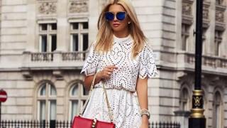 Къса бяла рокля