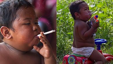 2x2: Две годишно момченце пуши по 2 кутии цигари на ден