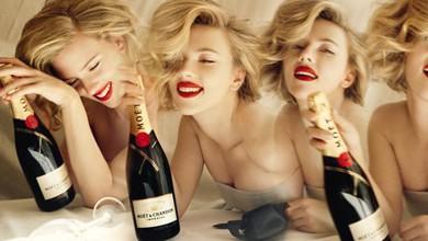 Скарлет Йохансон е неотразима в новата рекламна кампания на Moët & Chandon