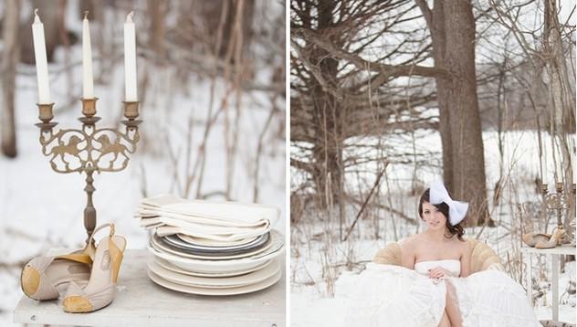 Зимна сватба - принцесата и роклята