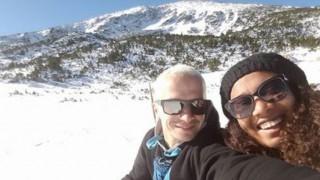 Део и синът му закриха ски сезона (снимки)