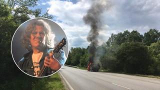 Джипът на Иван Лечев се запали по време на движение