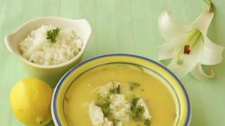 Гръцка супа с лимон