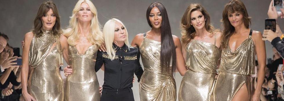 50-годишни модели в топ форма за Versace