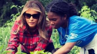 Мелания прекопа градината в Белия дом и извади праза за зимата