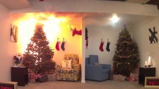 Не правете тази грешка. Тяхната елха изгоря за секунди!