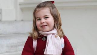 Малката червена принцеса на Кейт и Уилям тръгна на детска градина