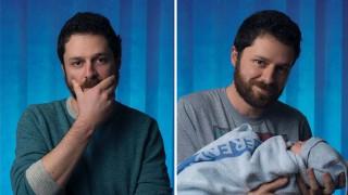 Преди и след: Как бащинството променя мъжете (СНИМКИ)